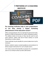 Benefits of Prepearing at a Coaching Institue45