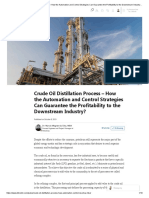 Crude Oil Distillation Process – How the Automation and Control Strategies Can Guarantee the Profitability to the Downstream Industry_ _ LinkedIn