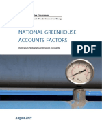 National Greenhouse Accounts Factors August 2019