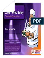 Food Hygiene Training - Level 1 - Sample