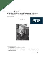 Entrevista - Nancy McWilliams - Psicoterapia Psicoanalítica y Psicoanálisis