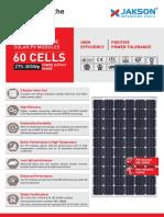 Monocrystalline Module 60 Cells Leaflet (275-305 Wp)