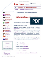 Définition _ Urbanisation, urbanisme