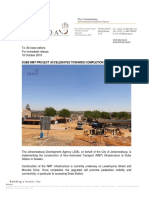 DUBE NMT PROJECT ACCELERATES TOWARDS COMPLETION