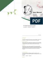 Single Phase Series Manual English