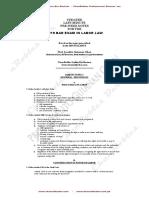 CRALaw - Labor Law Pre Week (2019)