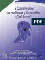 LA COMUNICACIÓN EN PARKINSON Y DEMENCIA