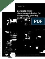 CIRIA R 165 Concrete Mixes