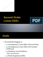 4 Second Order Linear ODEs 1