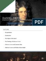 Daniel Defoe Robinson Crusoe and Modern
