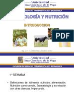 Semana 1 Introduccion - Bromatologia y Nutricion