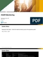3. HADR Monitoring