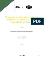 Restitution de l'enquête CURA x GAM sur la santé et le bien-être dans l'industrie musicale