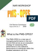 PMS Workshop