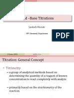 8. Acid Base Titrations
