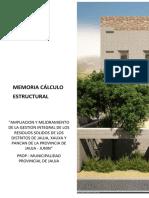 Memoria de Calculo Estructural 01