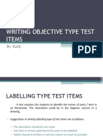 Writing Objective Type Test Item (Final)