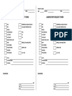 Lab Request Form