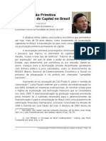 A Acumulacao Primitiva Permanente de Capital No Brasil