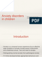 Anxiety Disorder in CAP