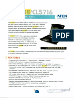 Kvm Switch (Aten Cl5708)