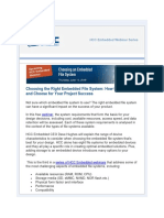 Choosing an Embedded File System