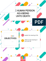 The Human Person as a Being Unto Death
