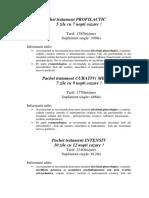 Pachete Speciale Tratament 2019
