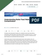 Boiler Feed Water Contamination