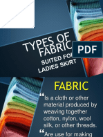Types and Properties of Fabric