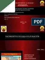 YACIMIENTOS DE BAJA SULFURACION