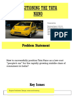Tata Nano STP for marketing class