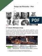 06 Linha Do Tempo Da Filosofia - Pré-Socráticos