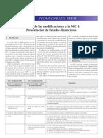 Análisis de las modificaciones a la NIC 1