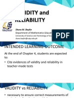 Chapter 4 Validity and Reliability