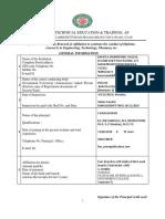 Sbtet Inspection Document 2019-2020
