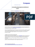 ¿Cuáles son los autos más seguros vendidos en Chile?