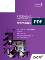 141389 Level 3 Unit 27 the Healthy Performer
