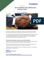 Las financieras en Santiago más confiables para comprar un auto