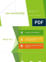 ism mentorship