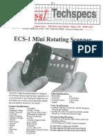 ECS 1 MiniRotatingScanner