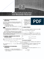 Mathematical Induction and Binomial Theorem