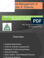 Nutritional Management of Critically ILL Patients.