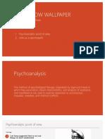 Psychoanalysis of The Yellow Wallpaper