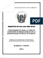 Directiva Nº 002 2013 Mdi Ulcp