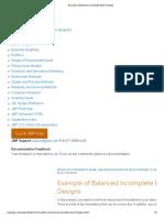 BIBD - Example - Jmp