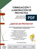 Formulación y Elaboración de Proyectos