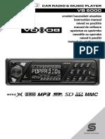 CAR RADIO & MUSIC PLAYER Vb6000 Mp3 Usb Sd Autoradio Hasznalati Utmutato