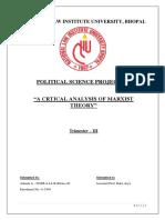 Critical Analysis of Marxist Theory