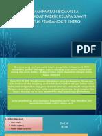 Biomassa Limbah Padat Pabrik Kelapa Sawit